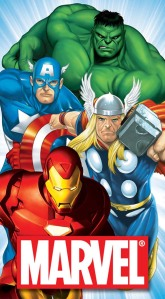 Marvel Poster Captain America, Thor, Iron Man and Hulk