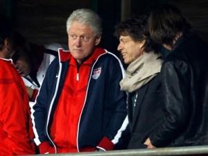 Mick Jagger, dos Rolling Stones com Bill Cliton