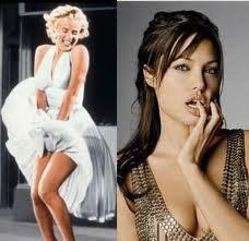 Marilyn Monroe e Angelina Jolie