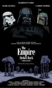 Pôsters dos filmes da saga Star Wars, inspirados em outros longas - Os Bons Companheiros