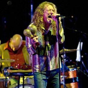Robert Plant em show em realizado no dia 17 de julho, em Little Rock, nos Estados Unidos