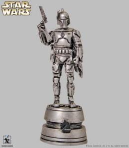 Peça do tabuleiro de xadrez Star Wars Jago Fett