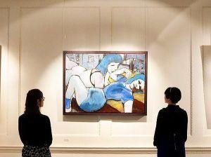 Músico Bob Dylan expõe suas primeiras pinturas