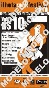 Cartão ingresso Ilhota Rock Festival 2010 (Modelo)