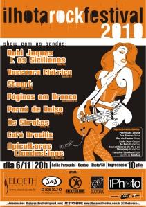 Cartaz Ilhota Rock Festival 2010