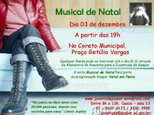 Convite rock de Gaspar