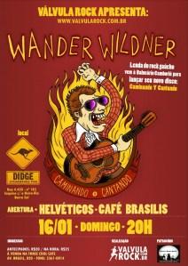 Cartaz do Válvula Rock Apresenta Wander Wildner
