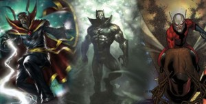 Universo Marvel - Homem-Formiga, Pantera Negra e Doutor Estranho