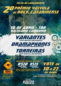 Cartaz do segundo Prêmio Válvula de Rock Catarinense