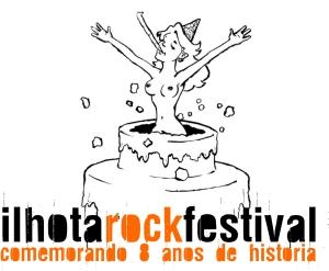 Logo de aniversário do Ilhota Rock Festival
