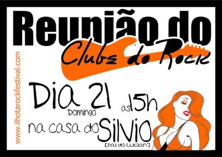 Convite para reunião do Clube do Rock