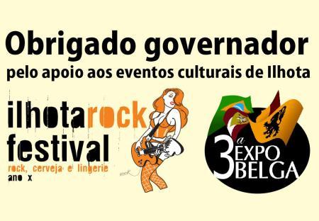 Projeto cultural da Expo Belga e Ilhota Rock Festival foram arquivados pelo governo do estado
