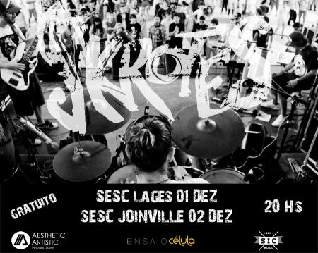 Os Skrotes - Cartaz Sesc Lages e Joinville